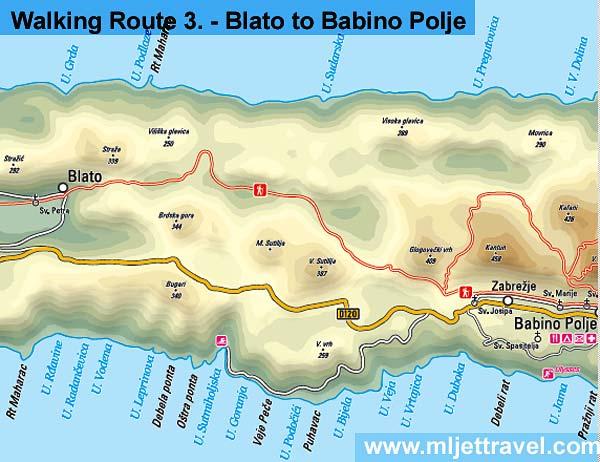 Walking Route 3 : Blato - Rogovici - Babino Polje