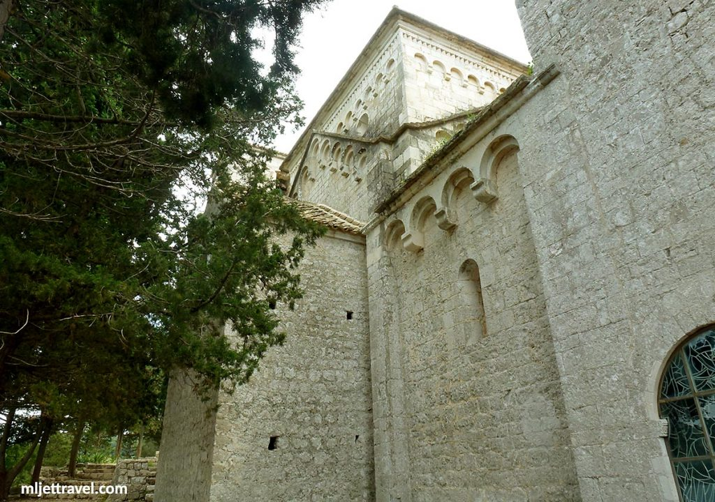 The side facade of the Church