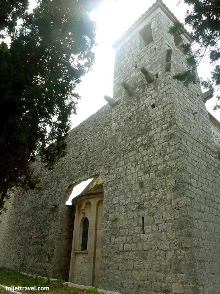 The church inside the walls
