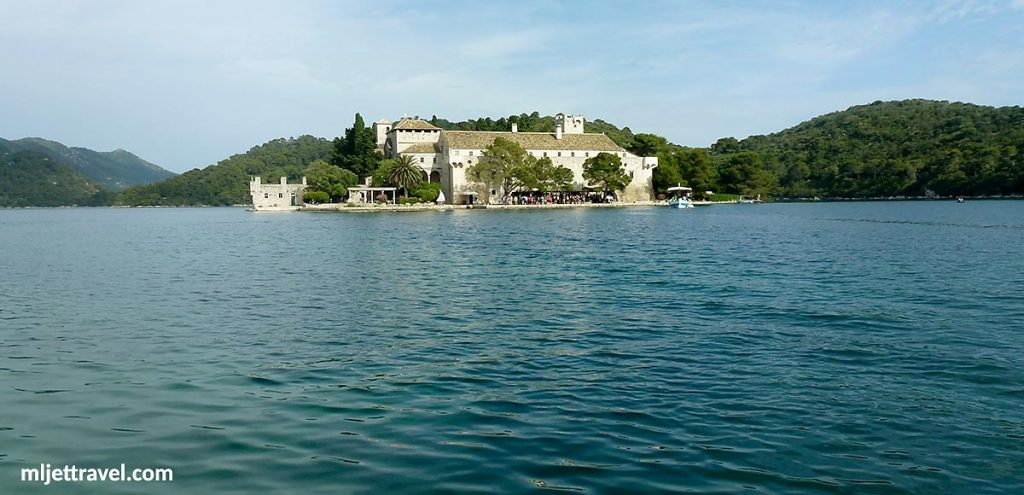 Views over the Lake to Church and Monastery, St Mary's Islet