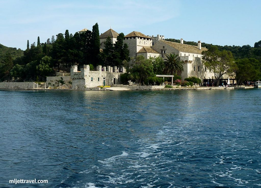 West facade of Benedictine Church and Monastery, Mljet