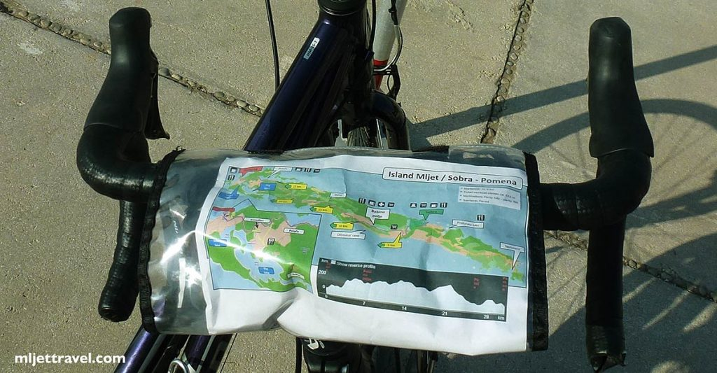 The islands cycling map kept handy on the bicycle
