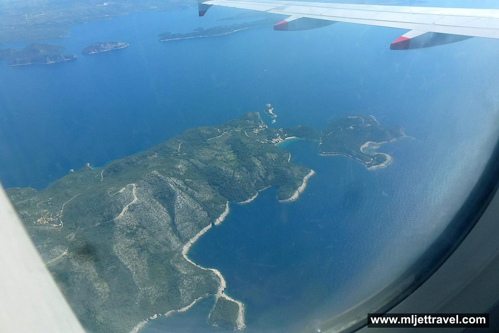 Flying over Mljet Island