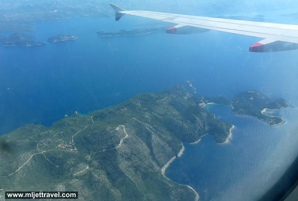 Flying over Mljet - Saplunara