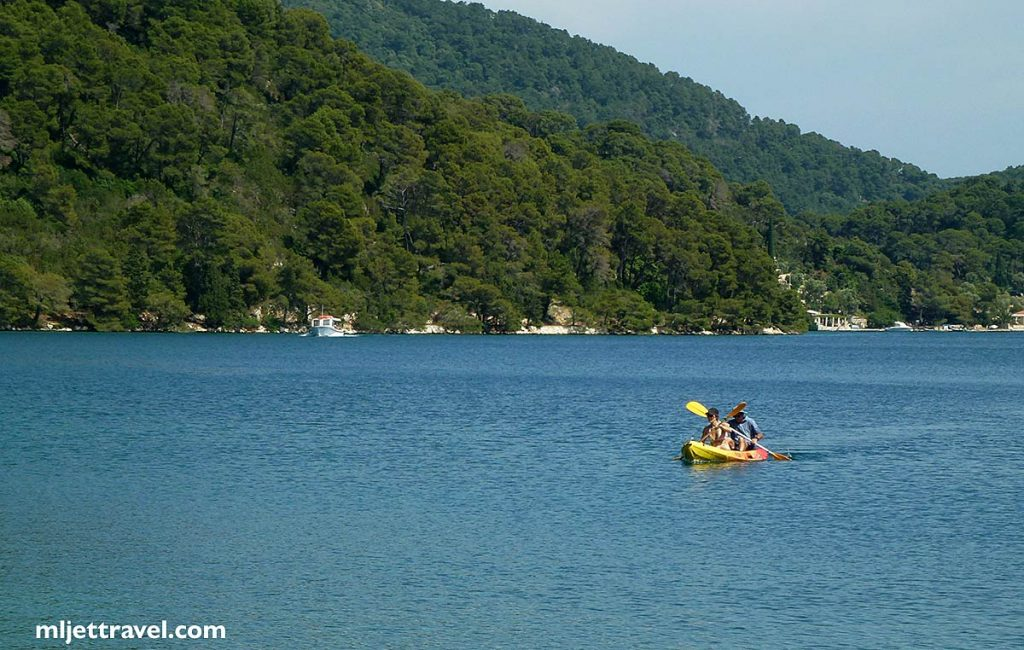 The tandem Sit On Top Kayak in the Veliko Jezero