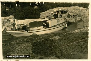 Getting by Boat from Large to Small Lake - Mljet 1933