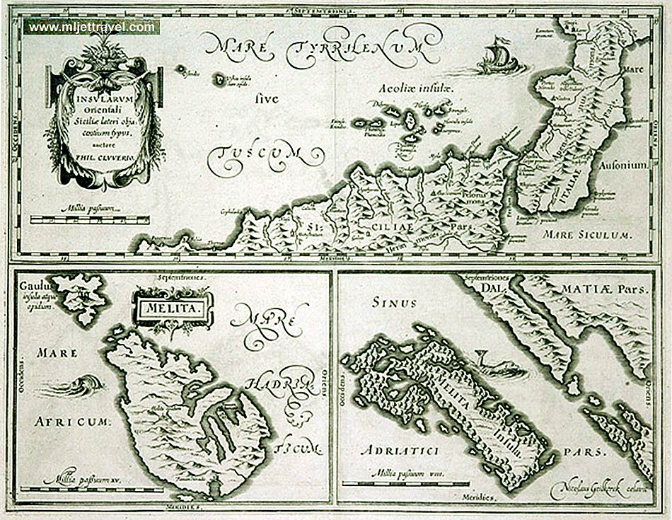 map mljet philipp cluver 16th-century