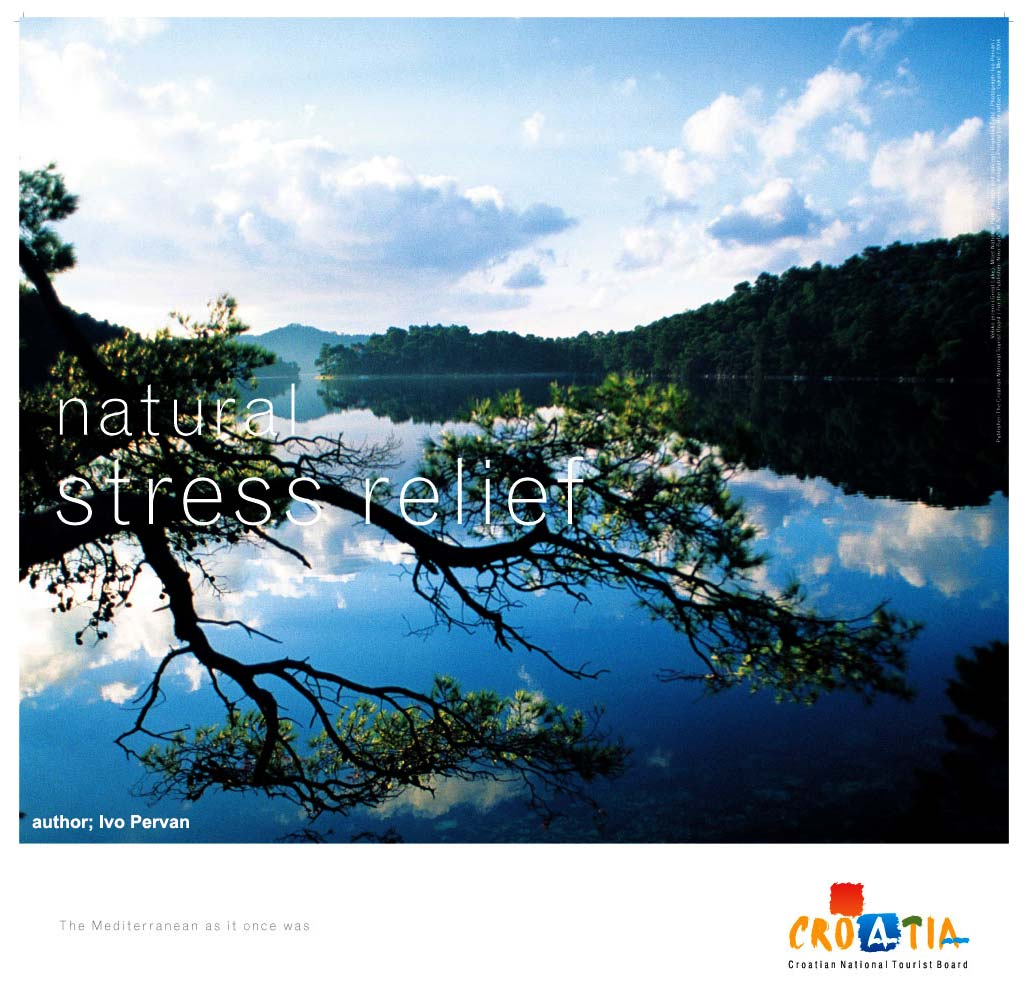 Mljet poster: Natural Stress Relief