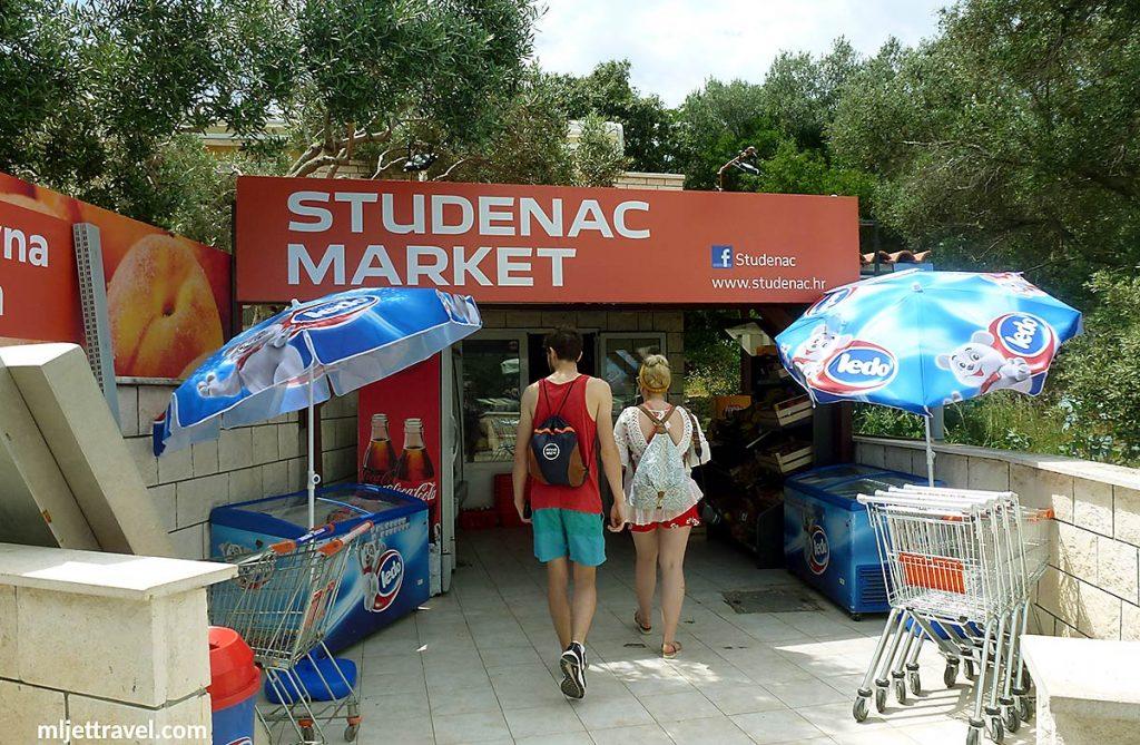 Studenac supermarket in Pomena, Mljet
