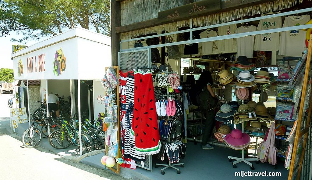 souvenir and beach shop in mljet