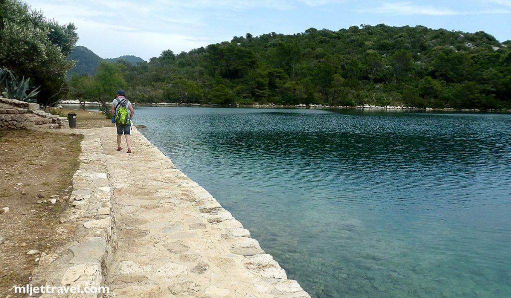 Walking path around the Island