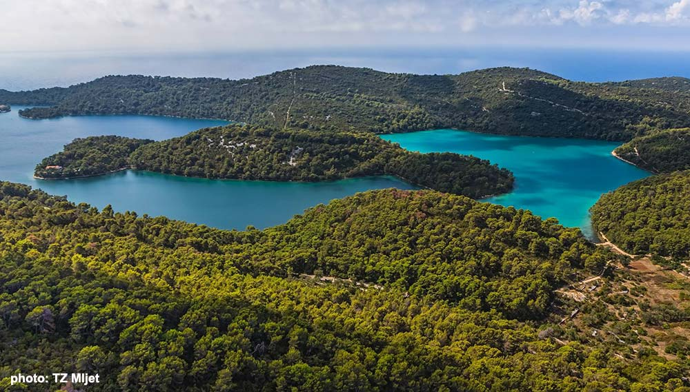 Views over Veliko Jezero in Mljet National Park