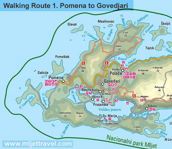 Walking Route 1 : Pomena to Govedjari