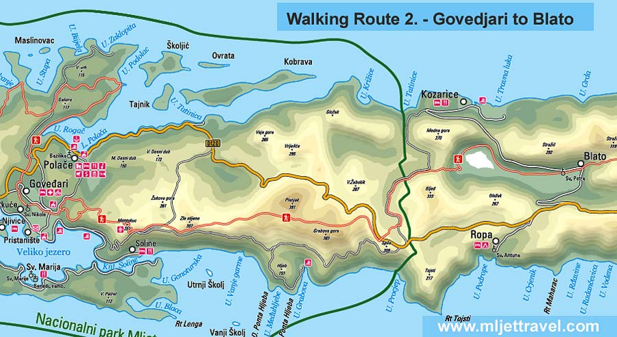 Walking Route 2 : Govedjari to Blato